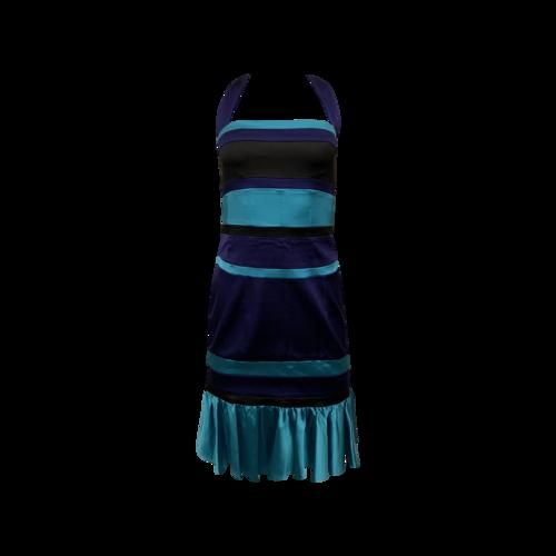 Karen Millen Stripe Halter Dress