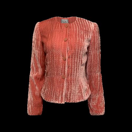 Calvin Klein Dusty Rose Velvet Jacket