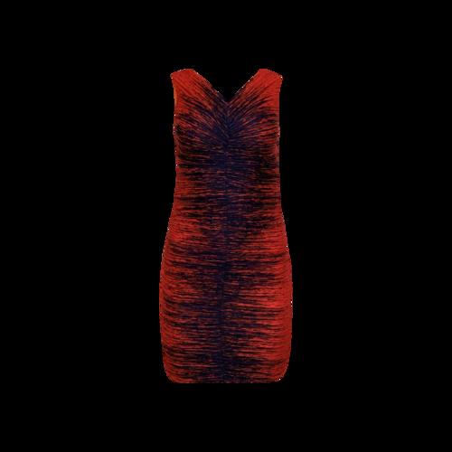 Halston Center Ruched Gradient Color Dress