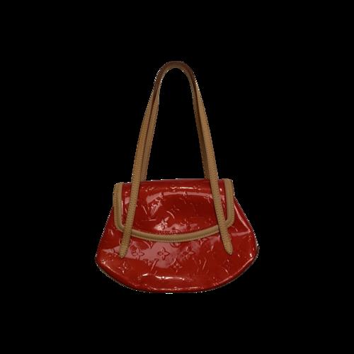 Louis Vuitton Red Monogram Vernis Biscayne Bay Bag