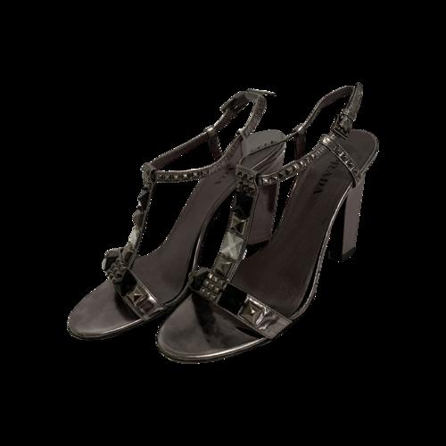 Prada Silver Jeweled Strap Sandals