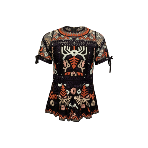 """Parker """"Shannon"""" Embroidered Top"""
