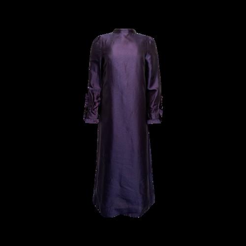 Vintage Purple Midi Printed Dress