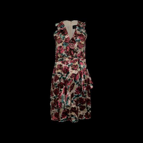 "Saloni ""Rita"" Short Dress in Blossom Cloudy Rose Print"
