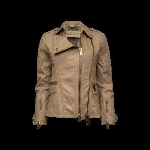 Burberry Beige Quilted Remington Biker Jacket
