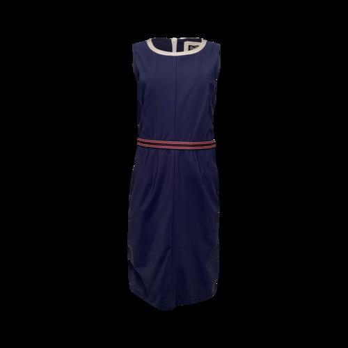 Dolce & Gabbana Blue Scoop Neck Sporty Dress