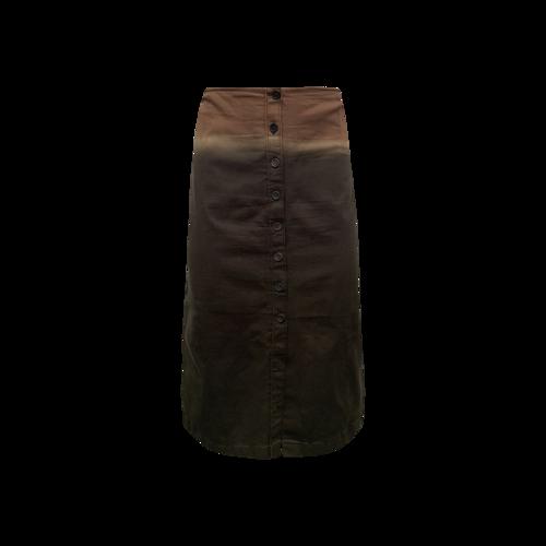 Prada Ombre Button Front Skirt