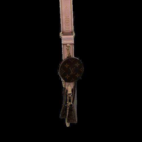 Multi Pochette Accessoires Bag w/ Light Pink Strap