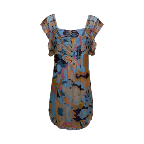 "Diane von Furstenberg 'Mandala Square"" Print Beaded Dress"