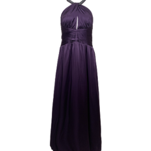 Marc Bouwer Amethyst Halter Neck Jeweled Gown