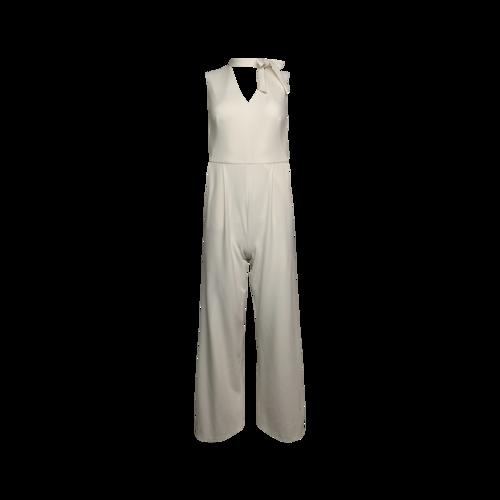 Calvin Klein White Neck-Tie Jumpsuit
