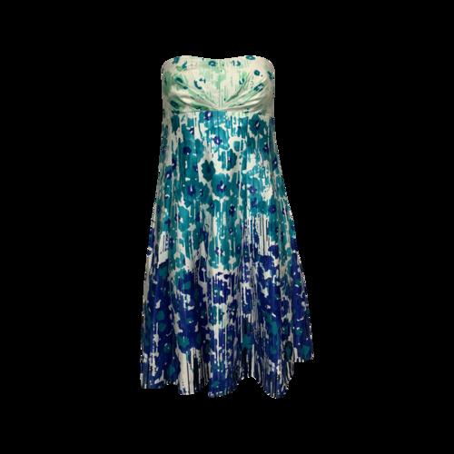 Calvin Klein Strapless Floral Print Dress
