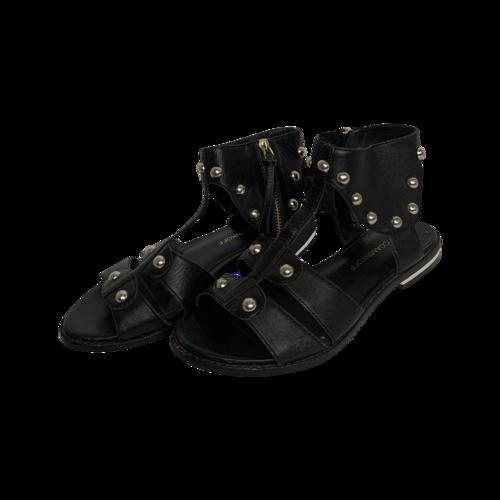 "Rebecca Minkoff Black ""Shay"" Gladiator Sandals"