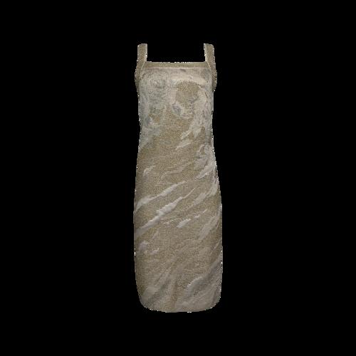 St. John Metallic Sheath Dress