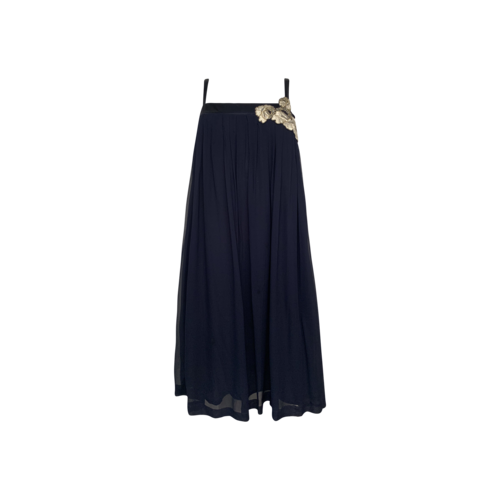 French Connection Blue Tent Style Embroidered Dress