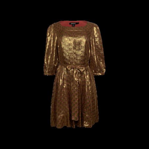 "DKNY Gold ""Fiona"" Lamé Dress"