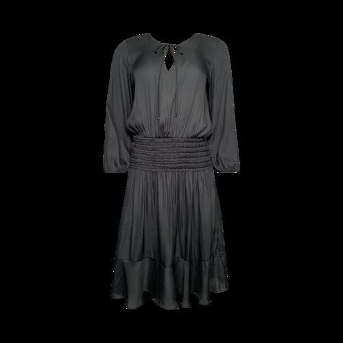 Halston Green Smock Waist Dress