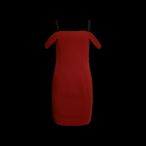 """Cinq à Sept Red """"Nova"""" Off-the-Shoulder Dress"""