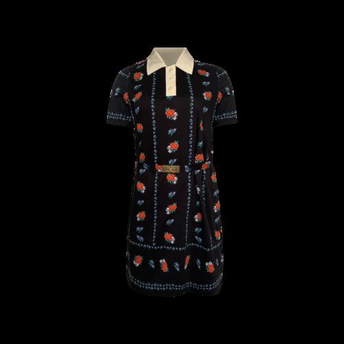 Tory Burch Floral Polo Shirtdress w/ Belt
