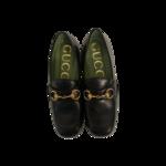 Black Horsebit Platform Loafers