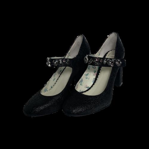"1901 Black ""Thompson""  Mary Jane Pumps"