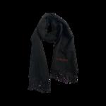 Black Logo Wool Scarf