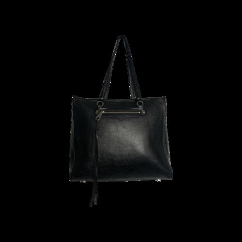 "Rebecca Minkoff Black ""Regan"" Side Zip Bag"