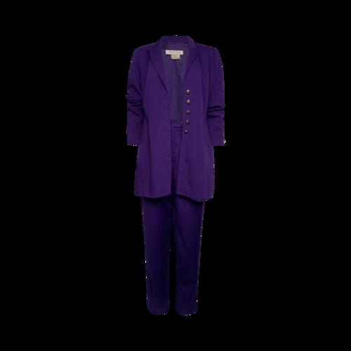 Escada Vintage Purple 2-Piece Suit Set