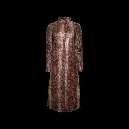 I.AM.GIA Snakeskin Print Long Coat
