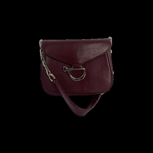 "Ralph Lauren Purple ""Newbury"" Messenger Mini Bag"