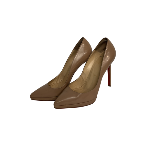 Christian Louboutin Nude Pigalle Patent Leather Heels