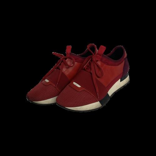 Balenciaga Red Race Runner Sneakers