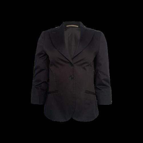 Bottega Veneta Black Cropped Blazer