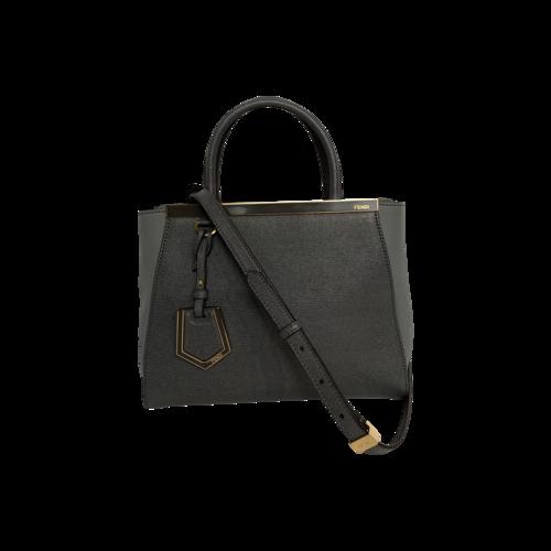 Fendi Grey Leather Mini 2Jours Bag