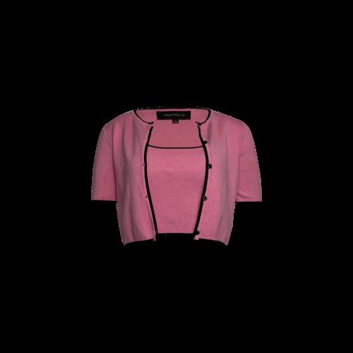 Majorelle Pink 2-Piece Crop Top and Cardigan Set