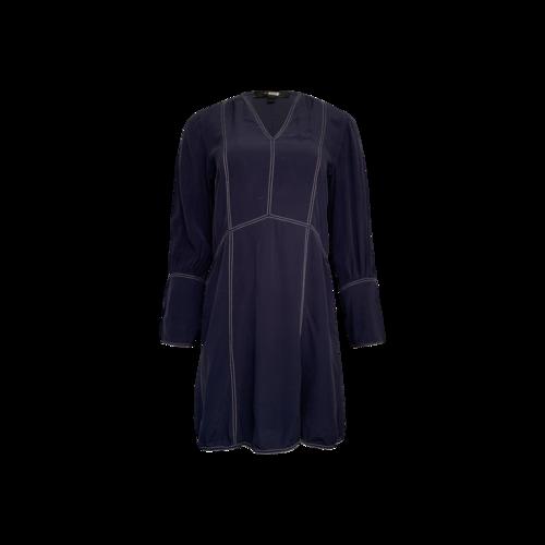Derek Lam Navy Blue Silk Shift Dress