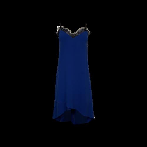 "BCBGMAXAZRIA Blue ""Astrella"" Lace Trim Dress"