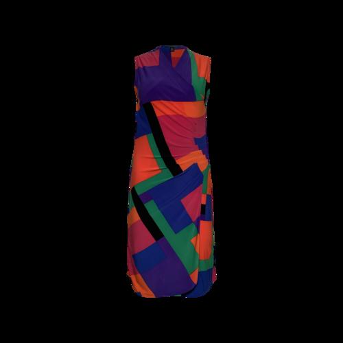 Ralph Lauren Colorblock Front Ruched Dress