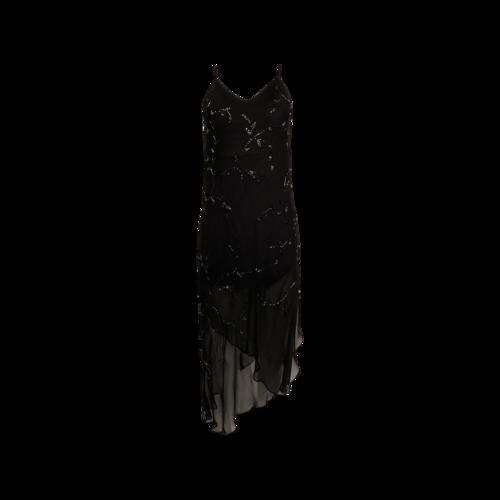 "Sue Wong Black Beaded ""Nocturne"" Dress"