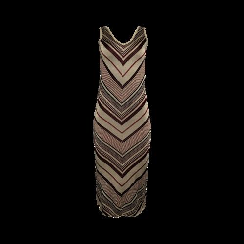 "Majorelle ""Sahara"" Sleeveless Knit Chevron Dress"