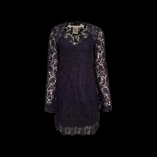 "Diane von Furstenberg Navy Blue ""Hippolyte"" Crochet Lace Overlay Dress"
