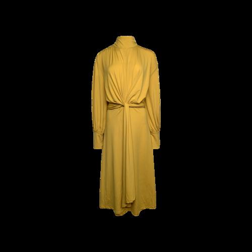 Eloquii Yellow Front-Knot Draped Dress