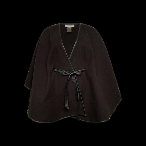 Calvin Klein Black Belted Cape