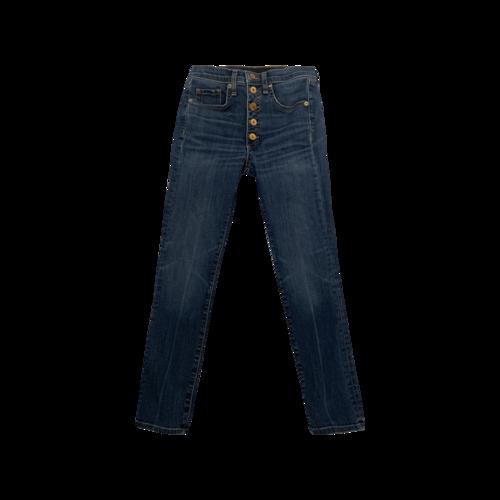 "Veronica Beard ""Debbie"" Gold Button Front Jeans"