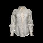 Cream Chevron Pattern Long Sleeve Blouse