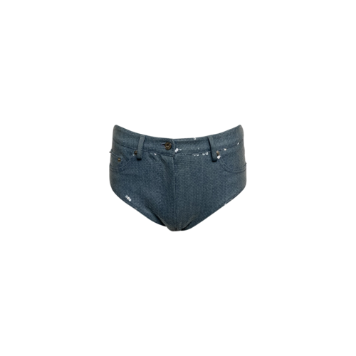 Cheeky Denim Sequin Shorts