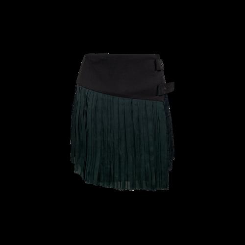 rag & bone Green Plaid Asymmetrical Mini Skirt