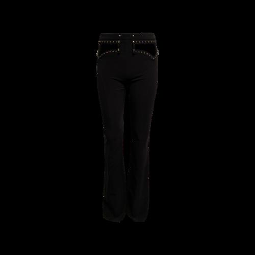 Roberto Cavalli Black Rhinestone Embellished Pants