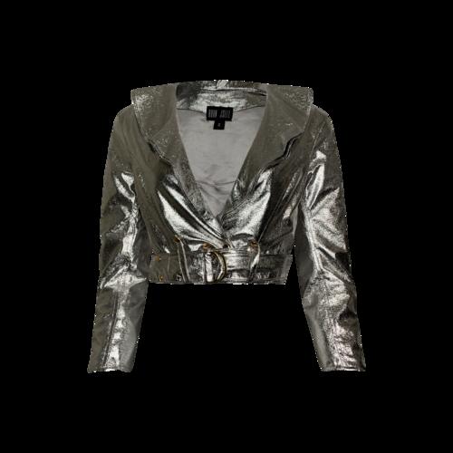"Bohn Jsell Silver ""Lolita"" Moto Jacket"