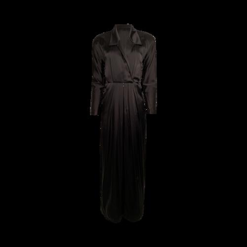 Anne Klein Vintage Black Silk Jumpsuit